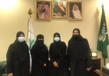 عميد كلية التمريض بجامعة الحدود الشمالية تزور كلية التمريض  بجامعة الملك عبدالعزيز