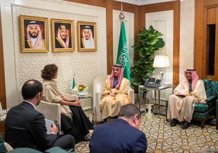 وزير الخارجية يستقبل المديرة العامة لمنظمة الأمم المتحدة للتربية والعلم والثقافة