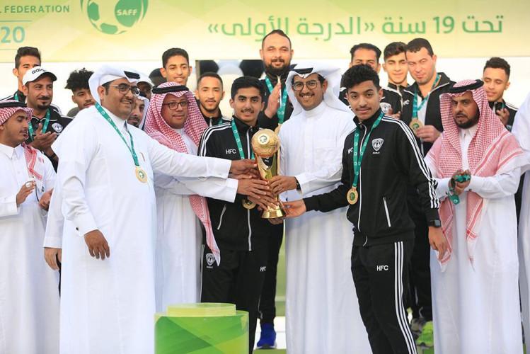 تتويج شباب هجر بكأس دوري الدرجة الأولى لدرجة الشباب