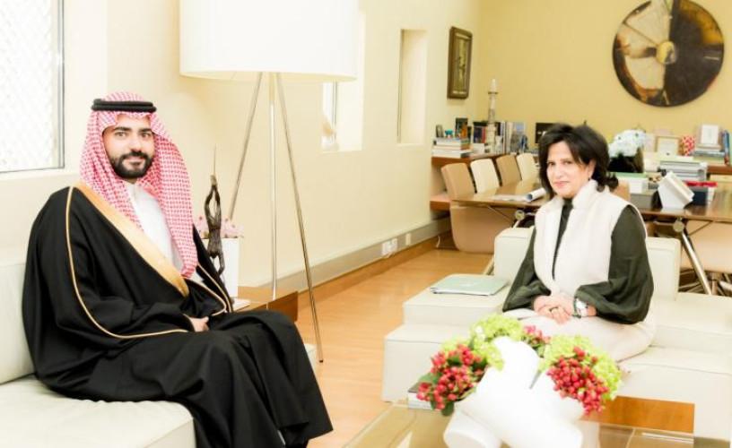 الشيخة ميّ تستقبل سفير المملكة العربية السعوديّة لدى مملكة البحرين