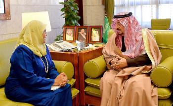 أمير الرياض يستقبل وكيل الأمين العام للأمم المتحدة