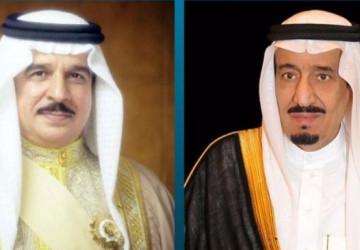 خادم الحرمين الشريفين يتلقى اتصالاً هاتفيًا من ملك البحرين