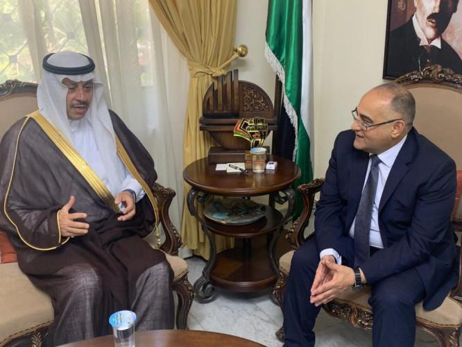 سفير المملكة لدى الأردن يلتقي وزير الثقافة الأردني