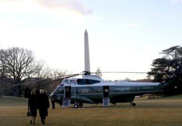"""قبل قليل.. """"ترامب"""" يغادر البيت الأبيض على متن مروحية رئاسية متوجهاً إلى قاعدة أندروز الجوية"""