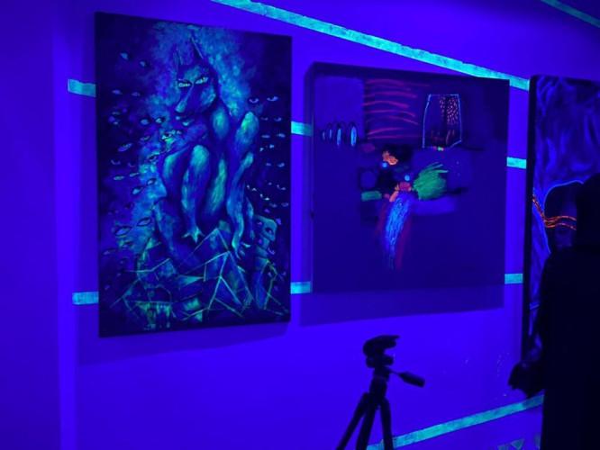 بمشاركة ذوي الهمم افتتاح المعرض الفني(مضوي)بمركز أدهم