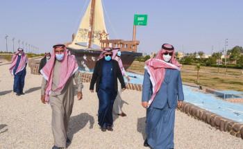 الأمير فيصل بن خالد بن سلطان يتفقد مركز طلعة التمياط