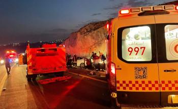 الباحة.. 8 إصابات في حادث تصادم مروّع على طريق العقيق