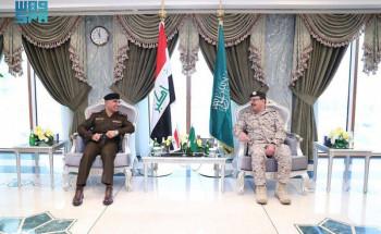 قائد قوات الدفاع الجوي يناقش مع نظيره العراقي الموضوعات المشتركة